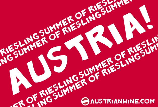 Austria poster LOGO print Summer of Riesling 2012