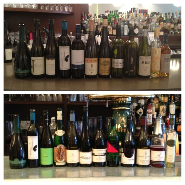 seminar wine line ups