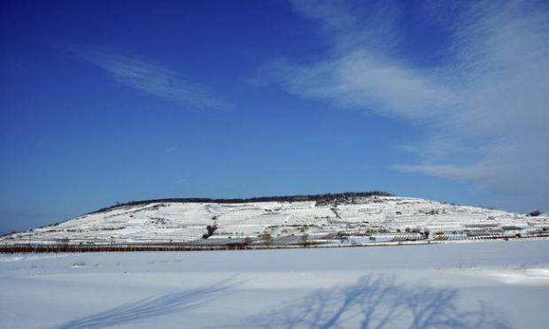 Heiligenstein in Winter in Kamptal