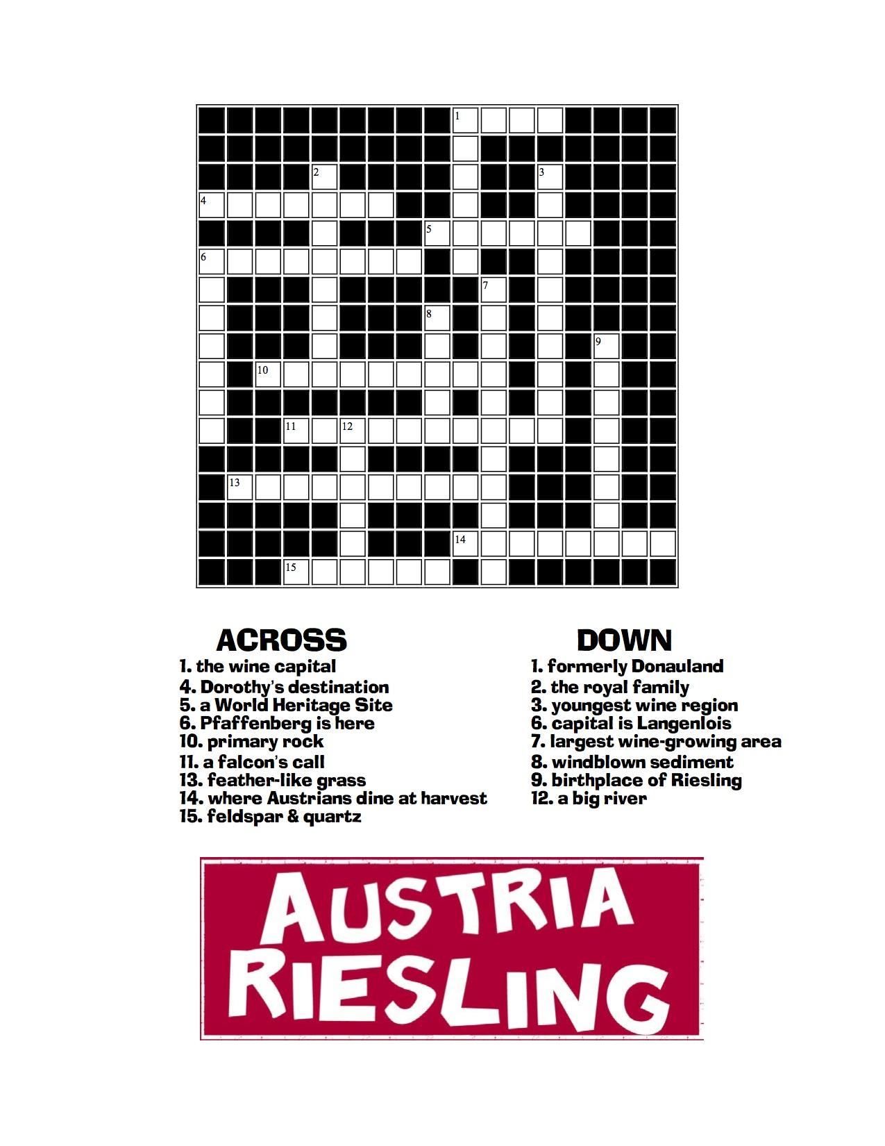 Dinner wines crossword